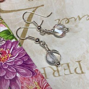 NWOT Dainty clear crystal faceted minimal earrings